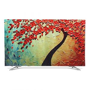 "Fabric TV Display Protector TV Cover 32"" - 70"" Indoor for Flat Screen Curved Screen Smart TVs Printing and Dyeing Process High Definition Decoration(Size:37/39inch,Color:Fortune tree)"