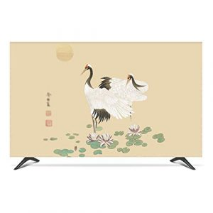 "ZHAOFENGE-maotan Indoor TV Cover 22"" - 80"" TV Screen Display Protector Microfiber Cloth Ink Landscape Printing for Flat Screen TVs Smart TVs(Size:42/43inch,Color:A)"