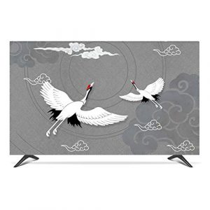 "ZHAOFENGE-maotan Indoor TV Cover 22"" - 80"" TV Screen Display Protector Microfiber Cloth Ink Landscape Printing for Flat Screen TVs Smart TVs(Size:42/43inch,Color:D)"