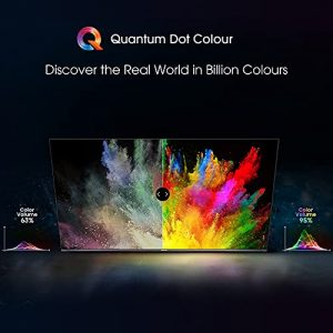 HISENSE 55E76GQTUK QLED Gaming Series 55-inch 4K UHD Dolby Vision HDR Smart TV with YouTube, Netflix, Freeview Play and Alexa Built-in, Bluetooth and WiFi, TUV Certificated (2021 NEW)