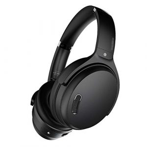 WXIANG Gaming headphones Active Noise Cancelling Bluetooth Over-Ear Headphones Comfortable Protein Earpads Wireless Wired Mode 25H Playtime Earphones (Color : Black)